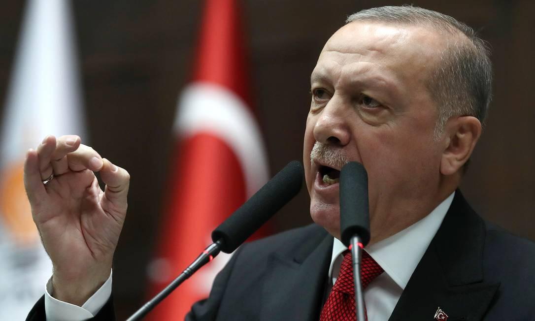 Presidente da Turquia, Recep Tayyip Erdogan Foto: ADEM ALTAN / AFP