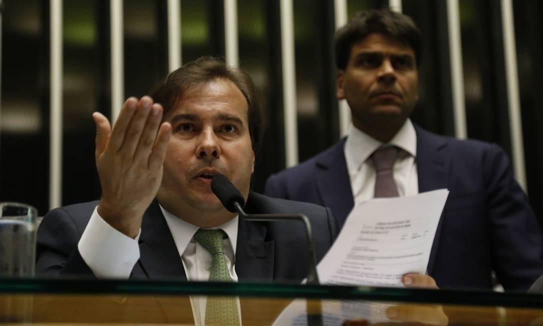 O presidente da Câmara dos Deputados, Rodrigo Maia Foto: Ailton de Freitas / Agência O Globo