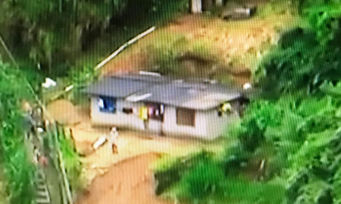 A área onde ocorreu o deslizamento Foto: TV Globo / Reprodução