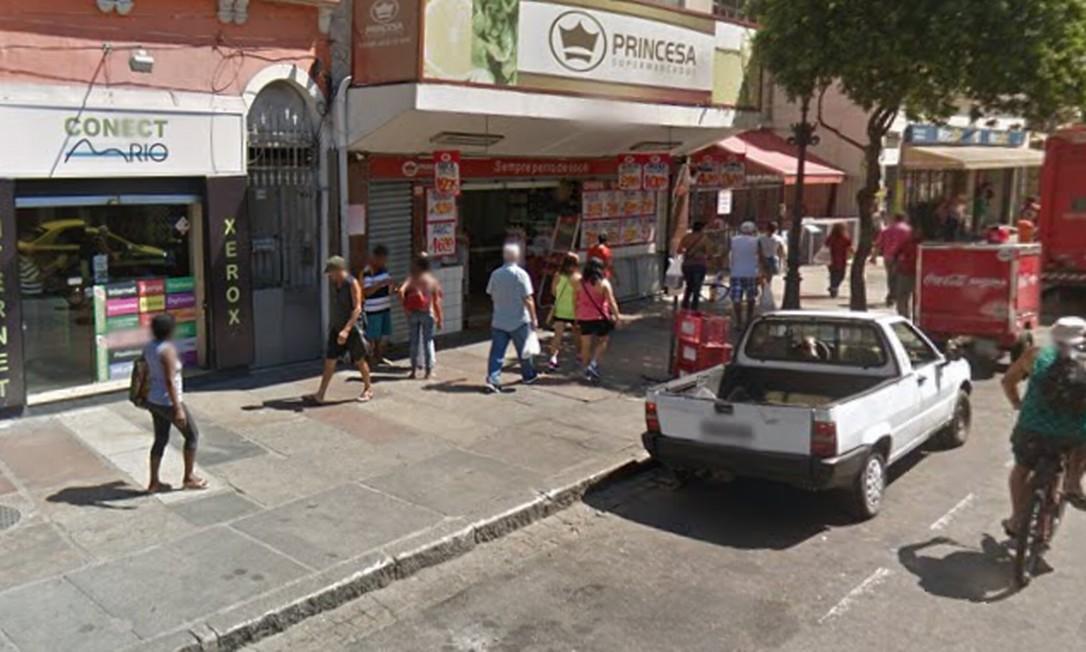 O local onde ocorreu a tentativa de assalto Foto: Google Street View / Reprodução
