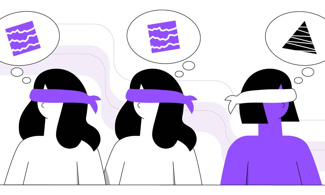 Os preconceitos inconscientes estão presentes no cotidiano, mas podem ser minimizados Foto: Ilustração de Ana Luiza Costa