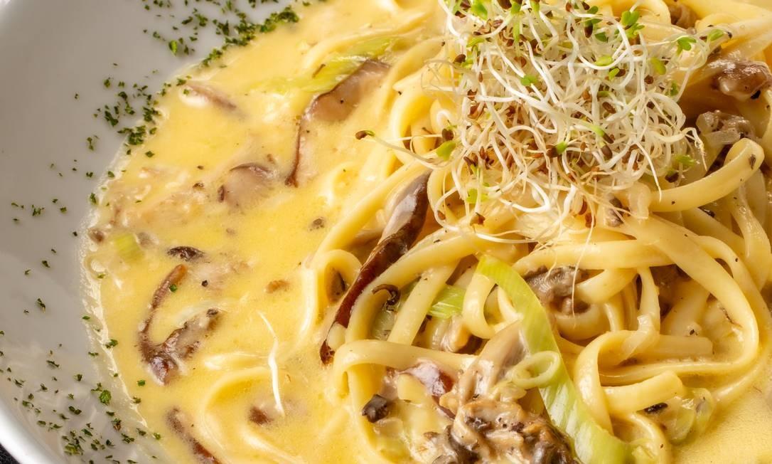 Tragga: linguine de cogumelos trufado Foto: Divulgação