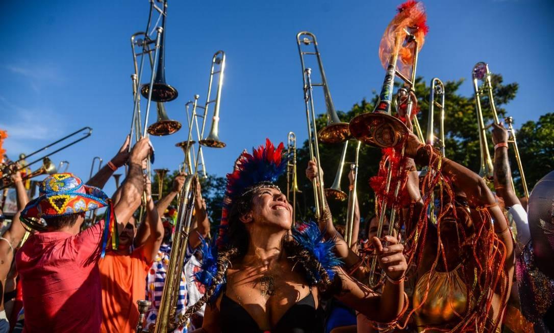 Desfile da Orquestra Voadora, em 2017 Foto: Divulgação/Ana Carvalho