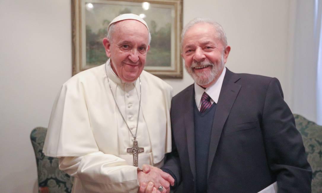 Lula se encontrou com papa Francisco para discutir combate a desigualdade e pobreza Foto: Reprodução