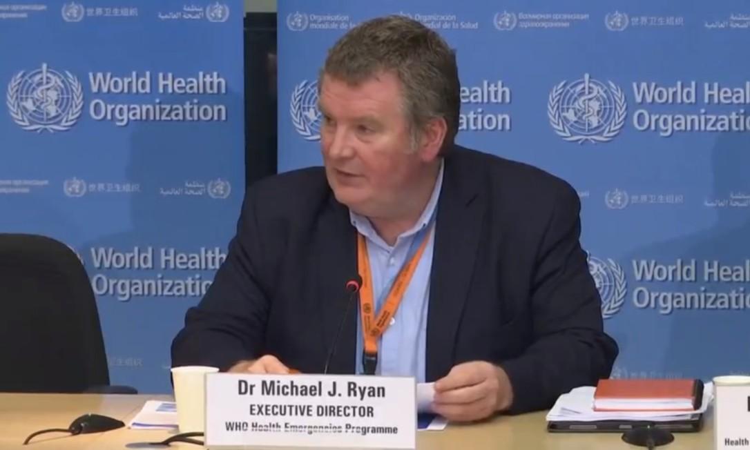 Michael Ryan, diretor-executivo do Programa de Emergências em Saúde da OMS Foto: Divulgação / OMS