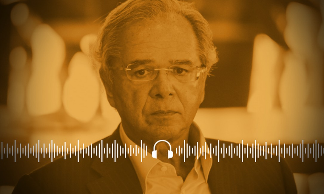 Paulo Guedes provocou polêmica ao tratar da variação da cotação do dólar Foto: Arte
