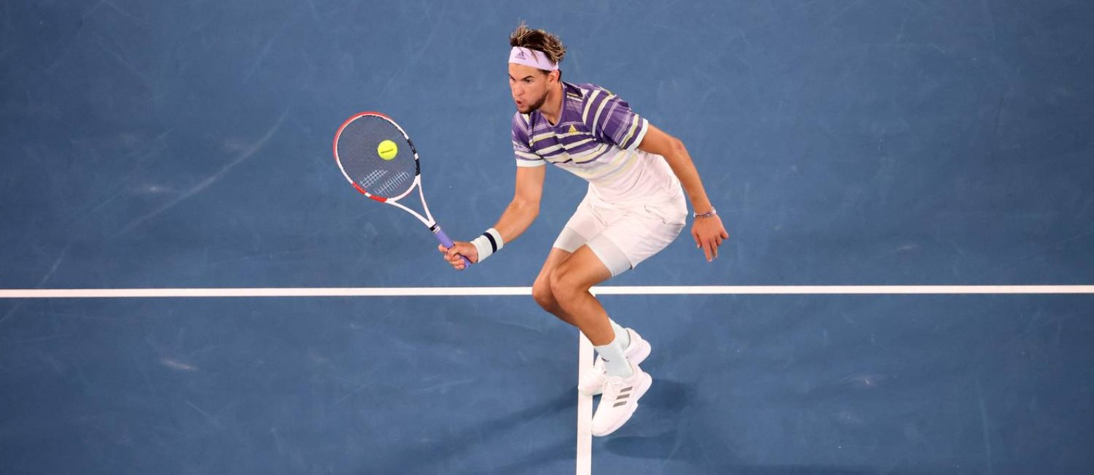 Dominic Thiem, vice no Australian Open, é favorito ao título no Rio Foto: DAVID GRAY / AFP
