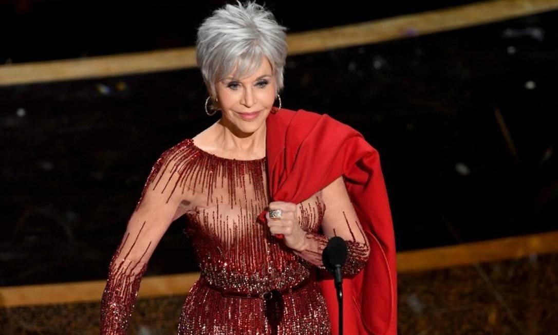 El exclusivo a atriz Jane Fonda no Oscar 2020 Foto: Kevin Winter / Getty Images