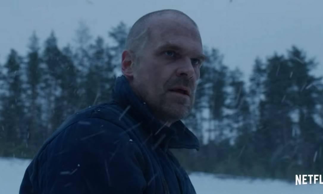 """Hopper aparece vivo em teaser da quarta temporada de """"Stranger things"""" Foto: Reprodução / Netflix"""