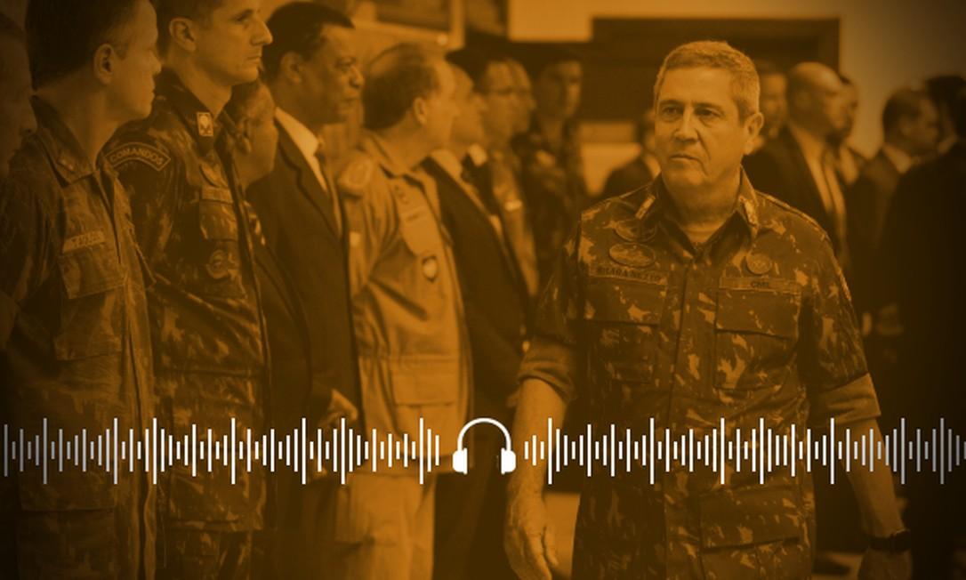 Braga Netto, que assume a Casa Civil, foi interventor na Segurança do Rio de Janeiro Foto: Arte