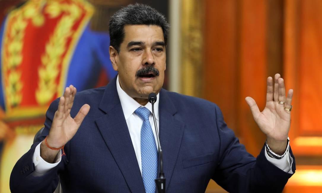 Presidente venezuelano Nicolas Maduro durante discurso no Palácio Miraflores, em Caracas Foto: Fausto Torrealba / REUTERS