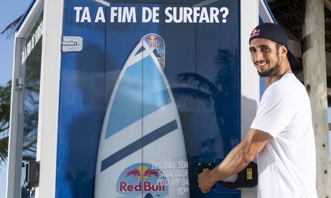 Aplicativo destrava pranchas de surfe em praias cariocas Foto: fotos de divulgação/Thiago Diz / fotos de divulgação/Thiago Diz
