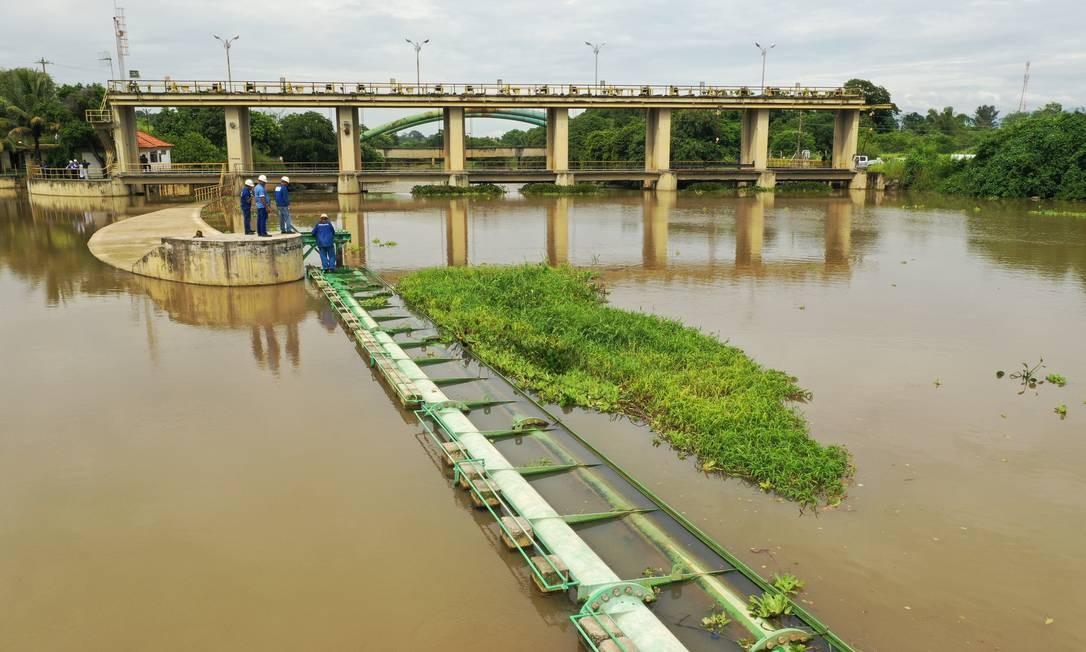Captação de agua do Guandu no Rio Botas Foto: Pablo Jacob/04-02-2020 / Agência O Globo
