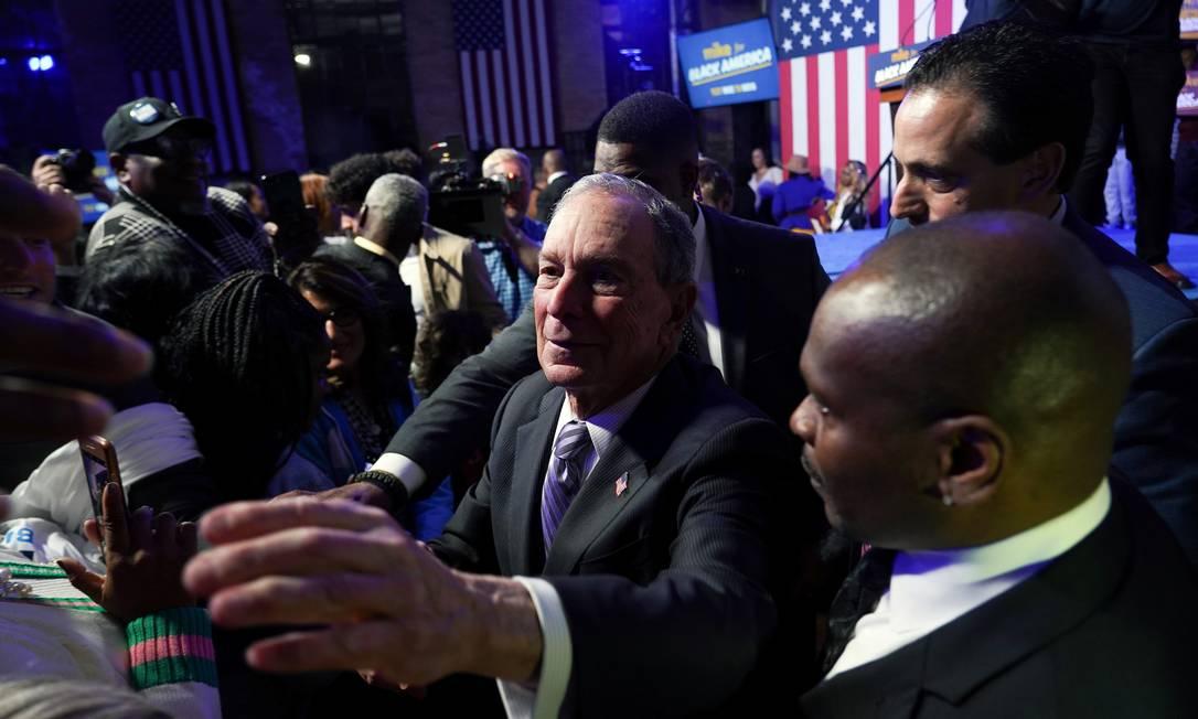 Candidato democrata Michael Bloomberg evento de campanha em Houston, no Texas Foto: GO NAKAMURA / REUTERS