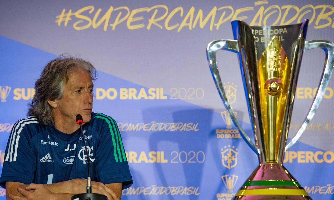 Jorge Jesus no Flamengo Foto: Alexandre Vidal/Flamengo