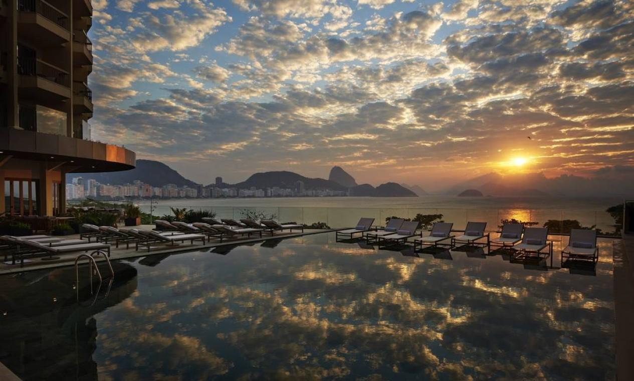 O luxuoso Fairmont Hotel, em Copacabana, Zona Sul do Rio Foto: Romulo Fialdini / Divulgação
