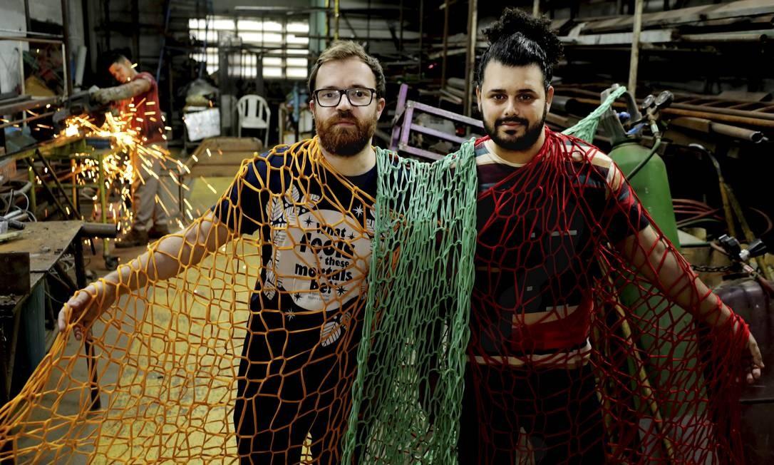 Leonardo Bora e Gabriel Haddad são os novatos da Grande Rio Foto: Marcelo Theobald / Agência O Globo