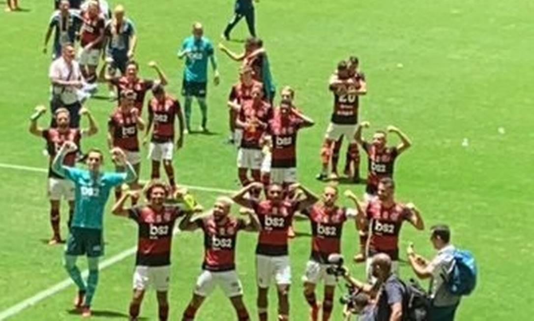 Flamengo devolve provocação Foto: Reprodução