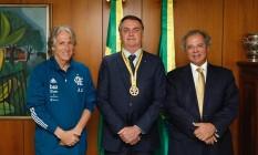 Jesus ao lado de Bolsonaro e do Ministro Paulo Guedes Foto: Divulgação Presidência da República