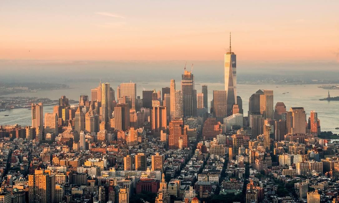 Parte da ilha de Manhattan vista a partir do observatório do Empire State Building, em Nova York Foto: Julienne Schaer / NYC & Company / Divulgação