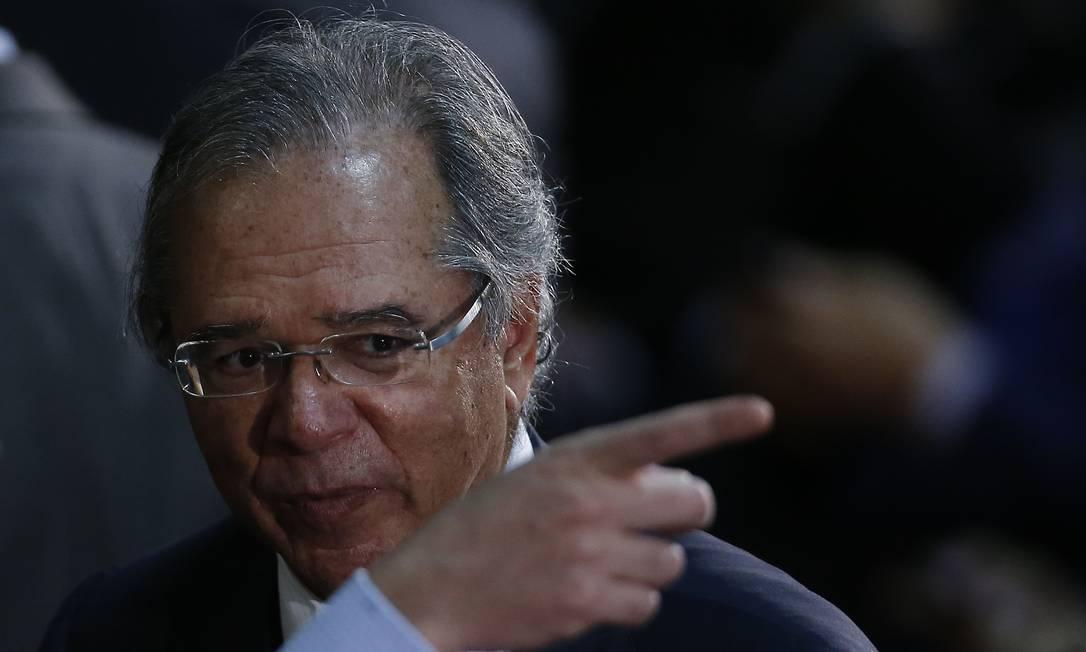 Paulo Guedes, ministro da Economia Foto: Jorge William / Agência O Globo