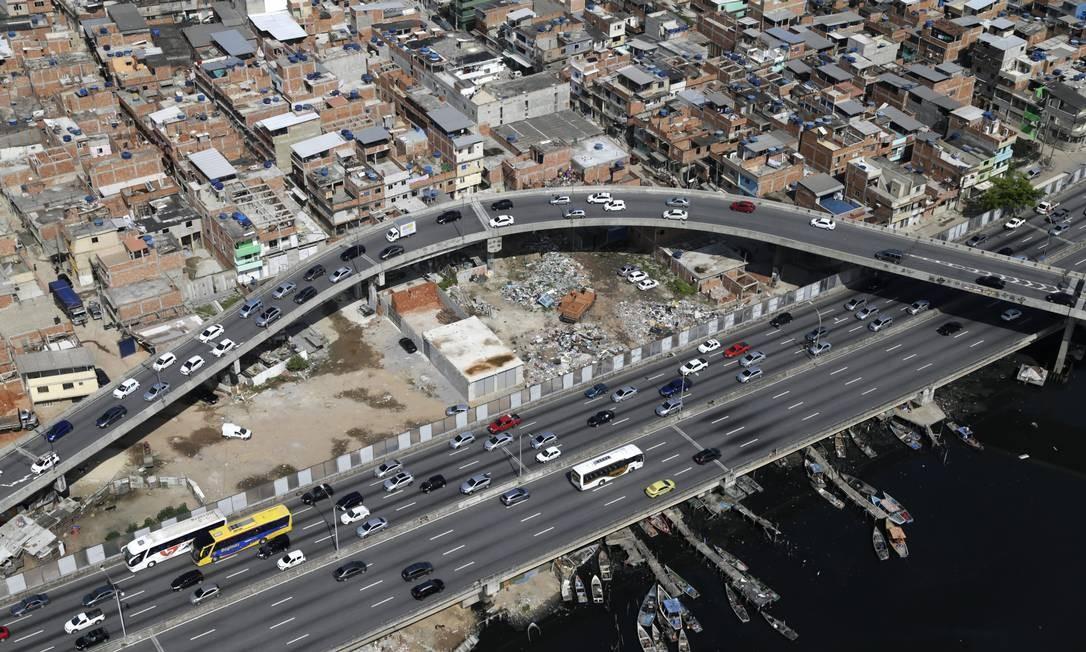 O Complexo da Maré, na Zona Norte do Rio Foto: Custódio Coimbra / Agência O Globo / 08-01-2020
