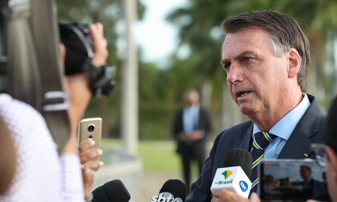 O presidente Jair Bolsonaro durante entrevista no Palácio do Alvorada Foto: Marcos Corrêa/PR