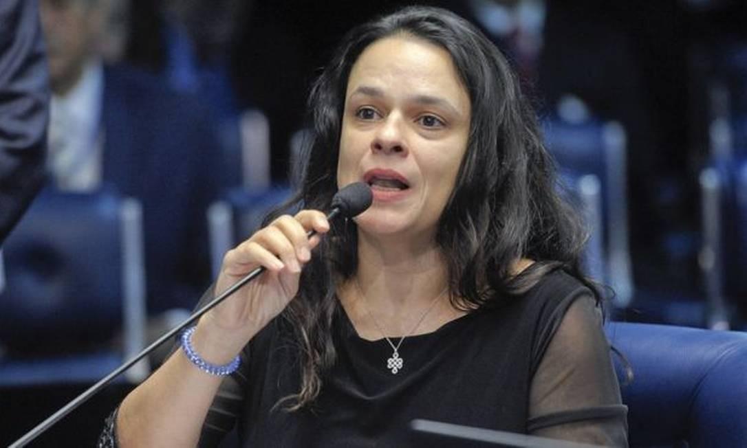 Janaina Paschoal no julgamento do impeachment de Dilma Rousseff em 2016; ela foi eleita deputada estadual em SP com votação recorde Foto: Pedro França / Agência Senado
