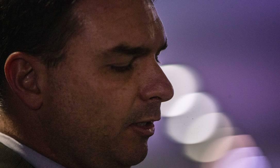 O senador Flavio Bolsonaro Foto: Daniel Marenco em 11/09/2019 / Agência O Globo