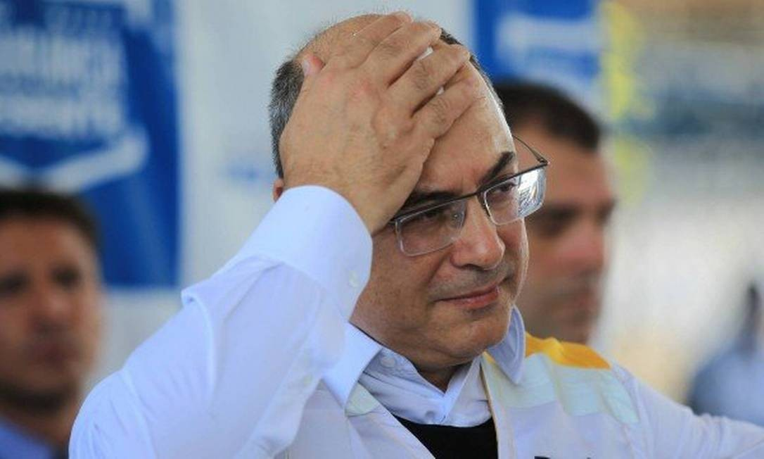Governador Wilson Witzel enfrenta aliados de Bolsonaro, com quem tem cultivado inimizade Foto: Gabriel de Paiva / Agência O GLOBO