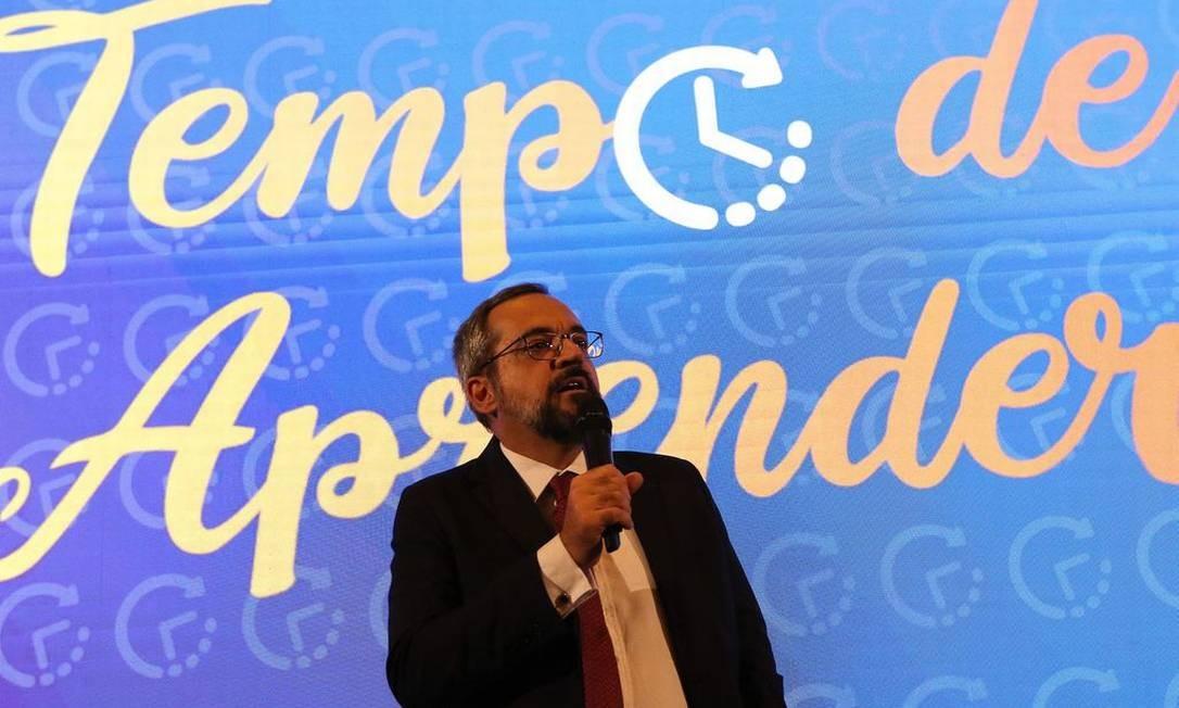 Weintraub lançou programa de alfabetização Foto: Fabio Rodrigues Pozzebom/Agência Brasil