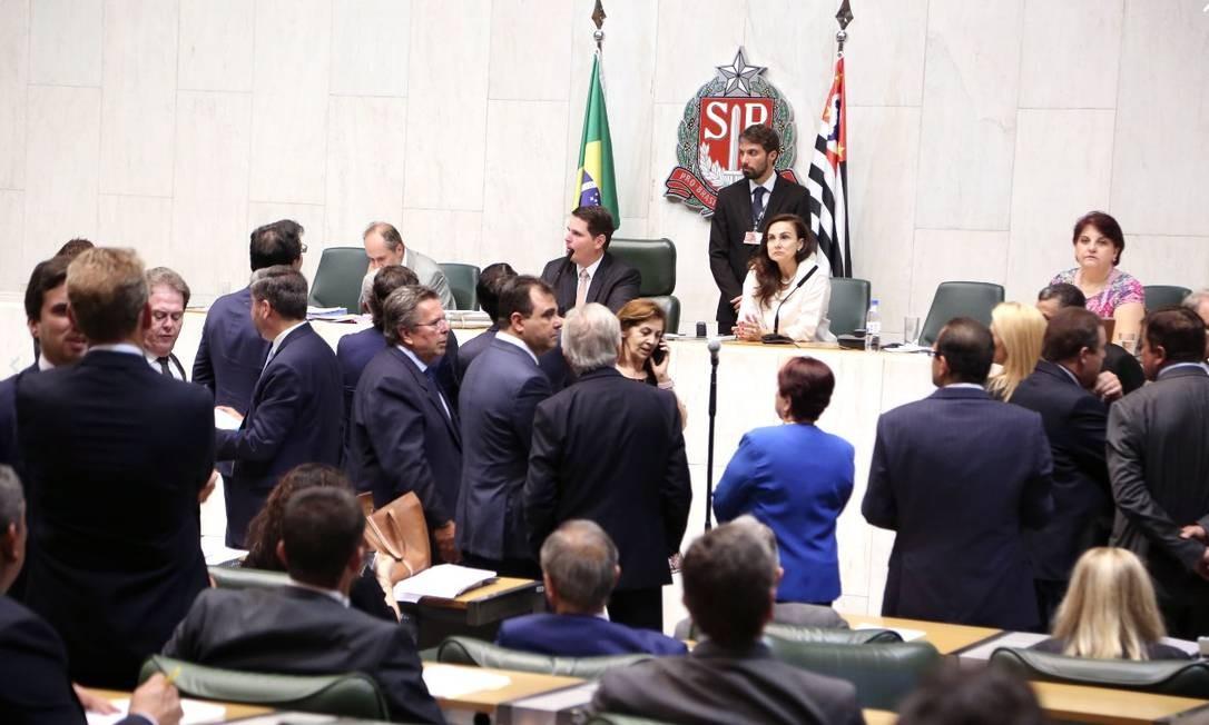 Deputados da Assembleia Legislativa de São Paulo durante votação sobre Reforma da Previdência Foto: Divulgação