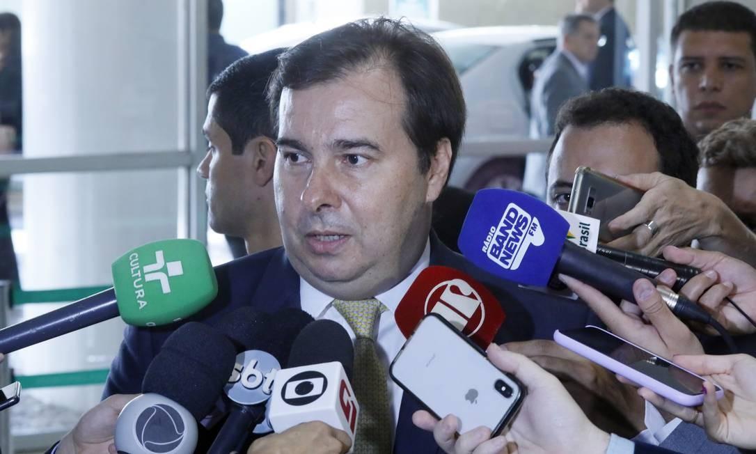 O presidente da Câmara, Rodrigo Maia, durante entrevista. Foto: Luis Macedo/Câmara dos Deputados