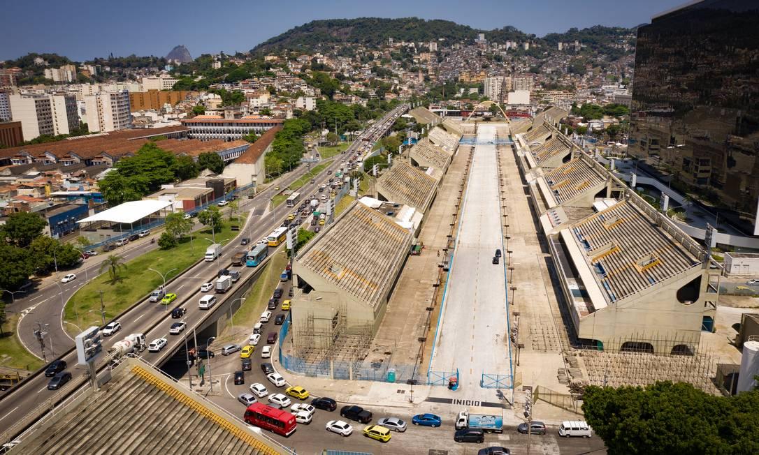 Vista aérea da região do Sambódromo Foto: Pablo Jacob / Agência O Globo