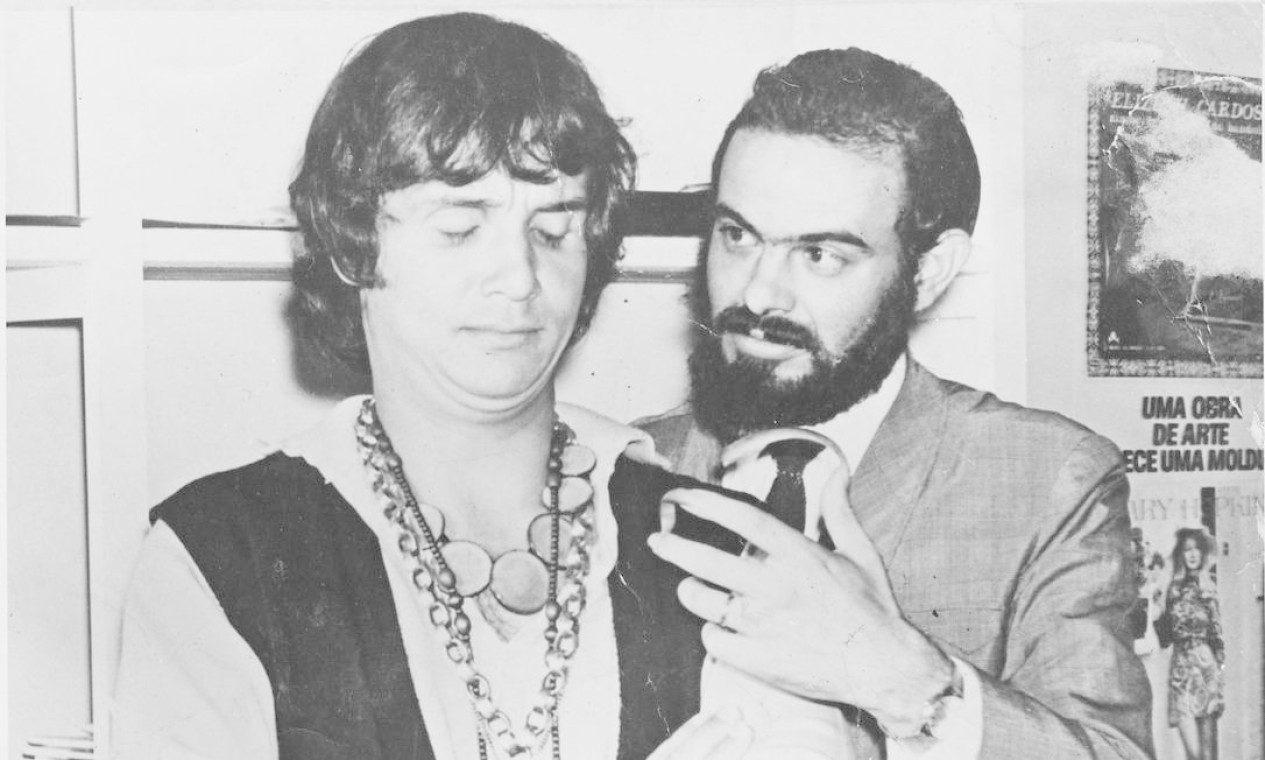 Roberto Carlos e José Mojica Marins em 1978 Foto: Divulgação
