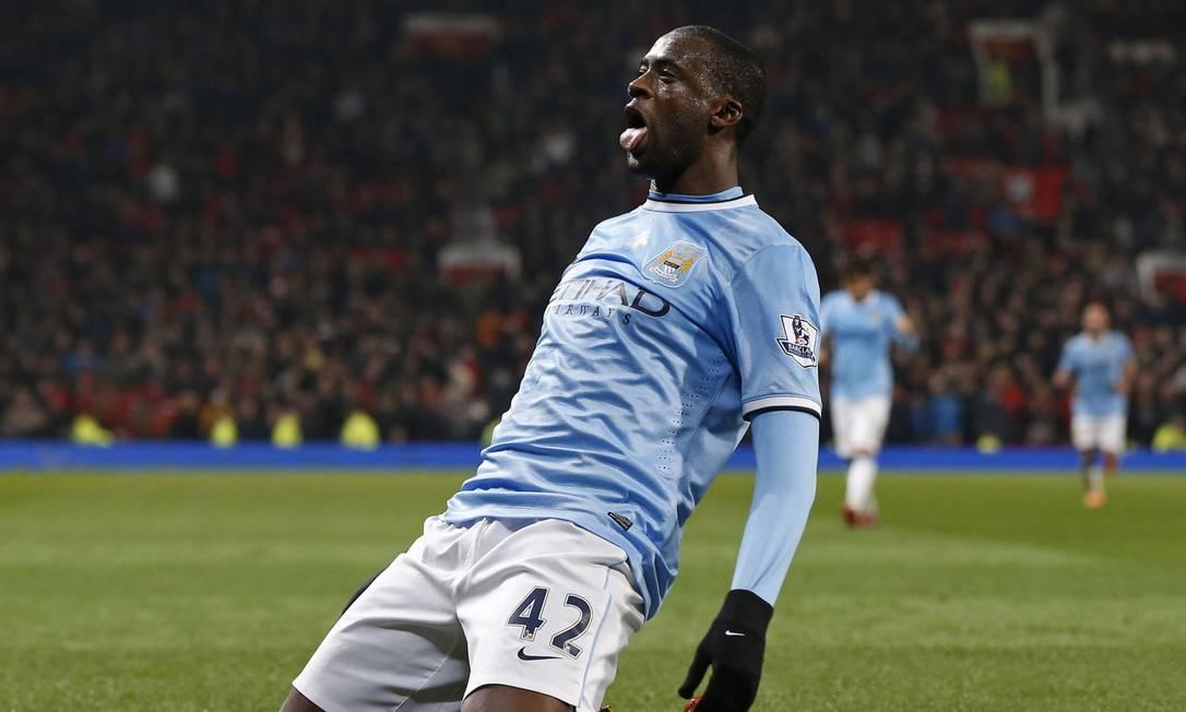 Yaya Touré brilhou no Manchester City Foto: PHIL NOBLE/Reuters