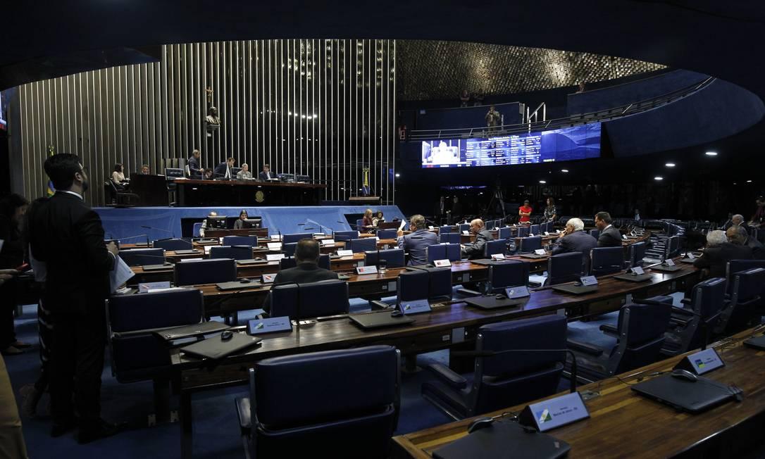Plenário do Senado durante sessão deliberativa Foto: Beto Barata/Agência Senado