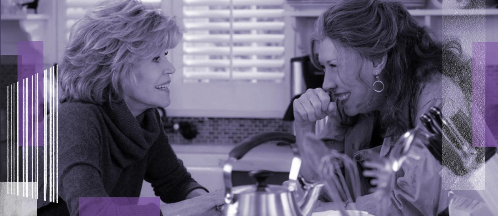 """Jane Fonda e Lily Tomlin protagonizam a série """"Grace and Frankie"""" Foto: Melissa Moseley/Divulgação"""