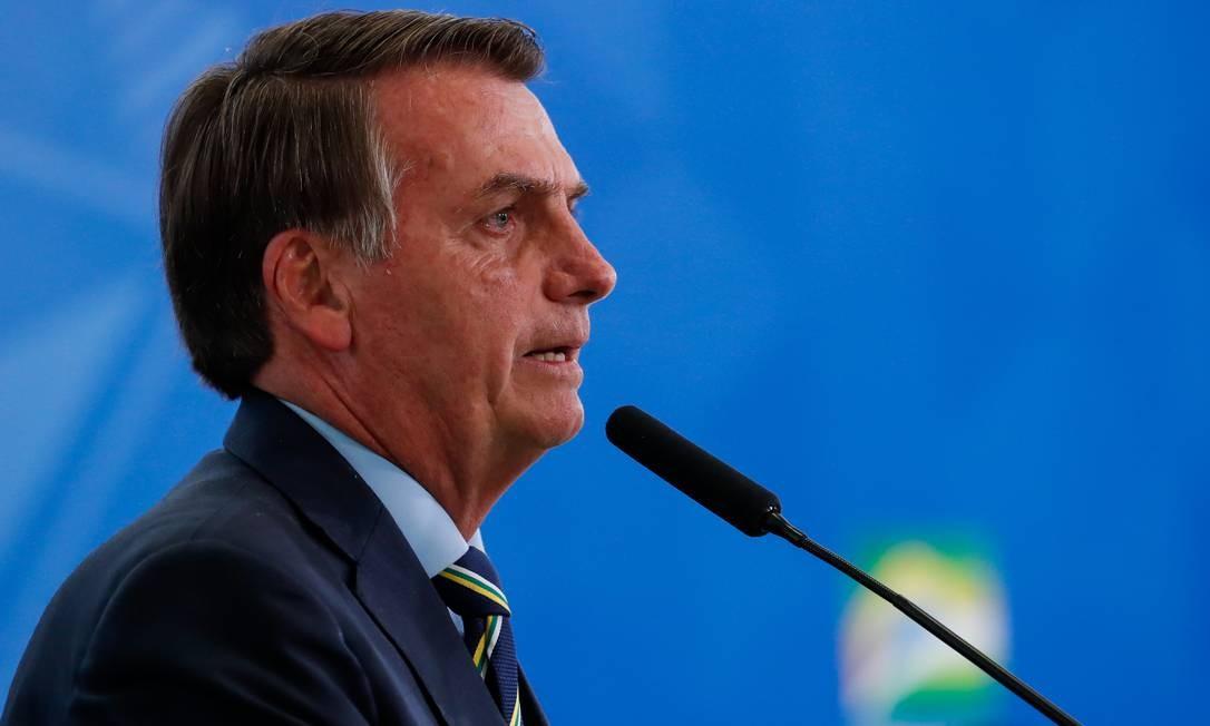 O presidente Jair Bolsonaro em solenidade no Palácio do Planalto Foto: Alan Santos/Presidência