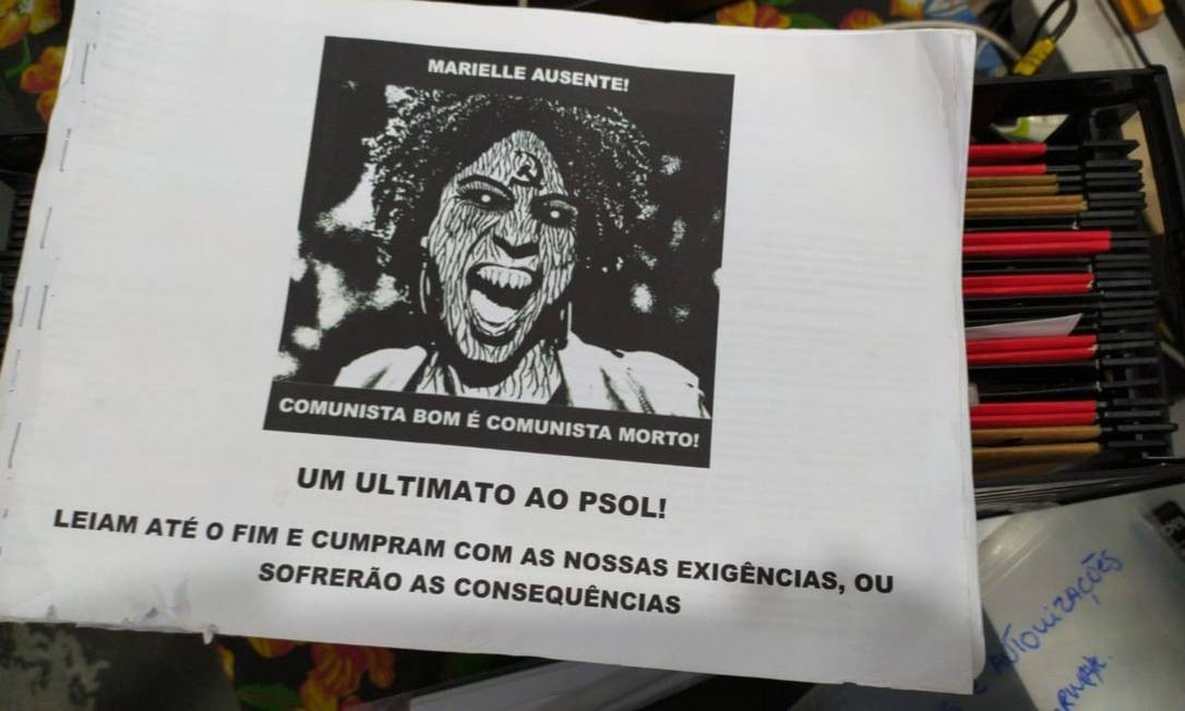 Sede do PSOL em Niterói recebeu ameaças Foto: Arquivo pessoal