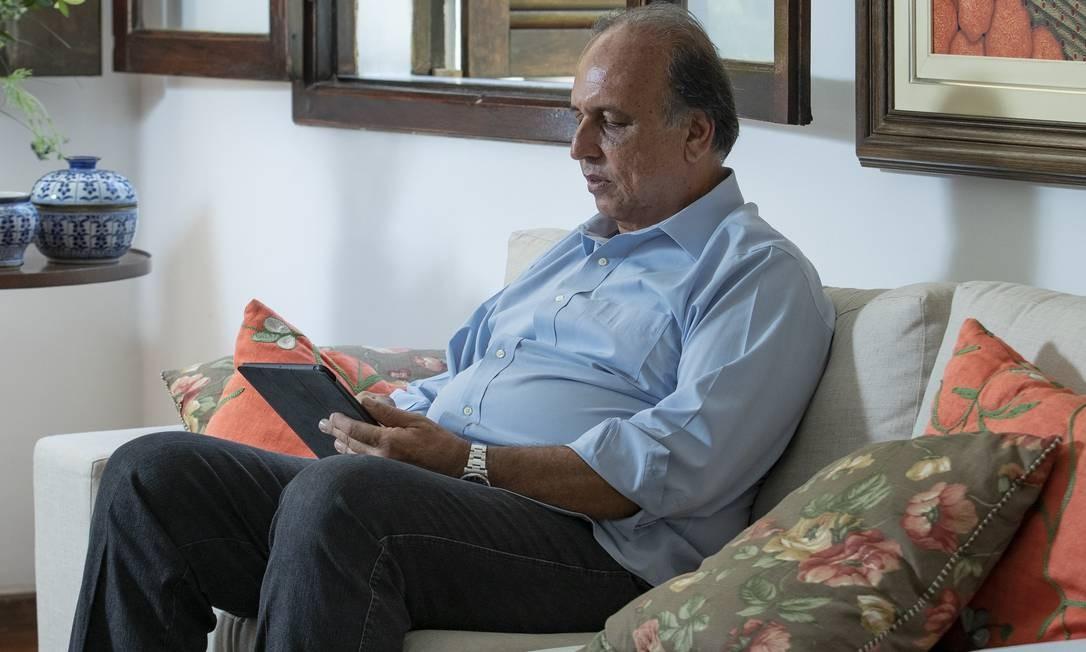 Entrevista com ex-governador Luiz Fernando Pezão, em sua casa em Piraí. Foto: Ana Branco / Agência O Globo