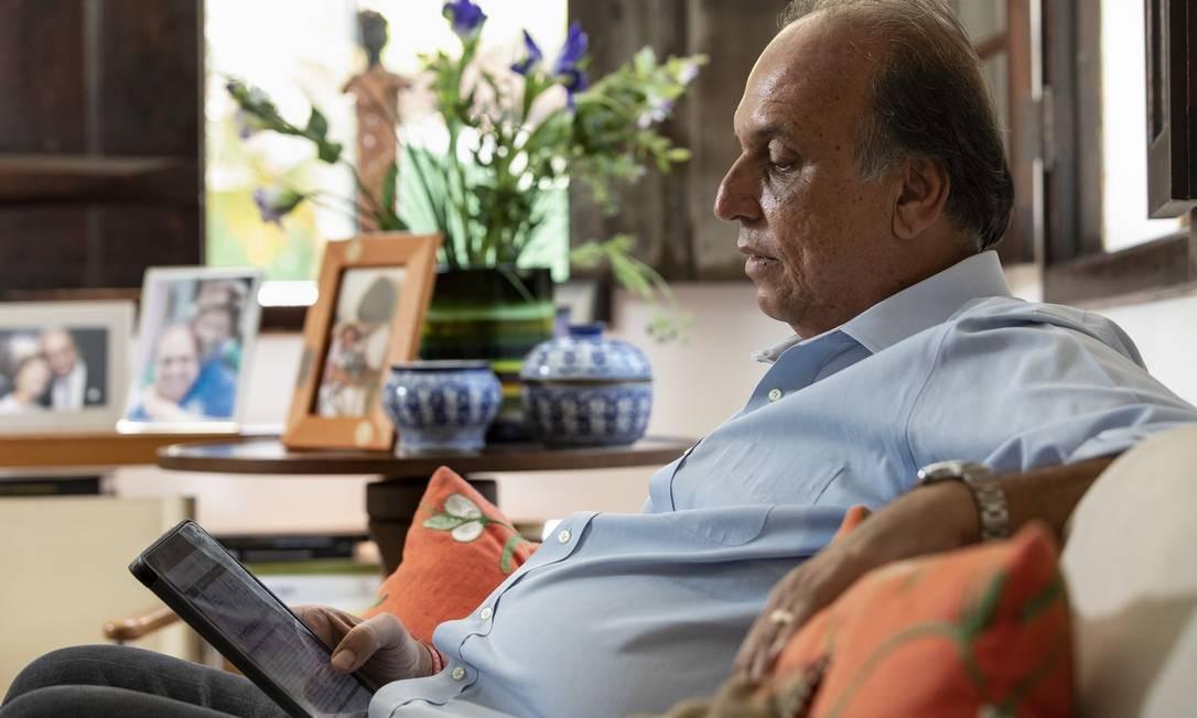 Entrevista com ex-governador Luiz Fernando Pezão, em sua casa em Piraí. Foto Ana Branco / Agencia O Globo Foto: Ana Branco / Agência O Globo