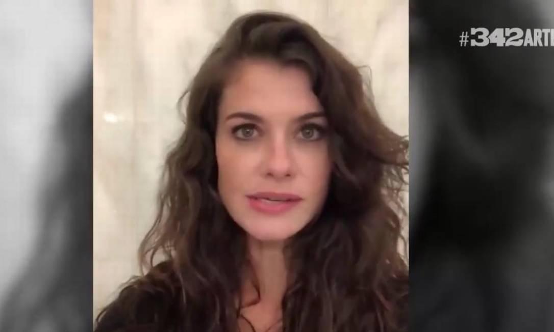 Artistas divulgaram vídeo em apoio a jornalista ofendida pelo presidente Jair Bolsonaro Foto: Reprodução
