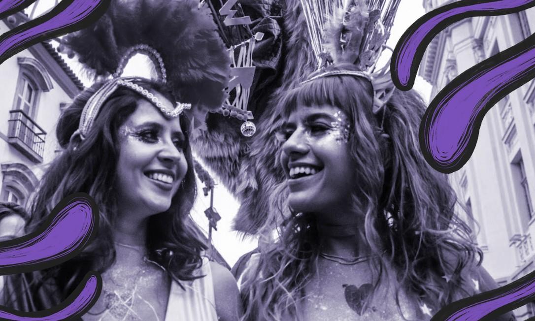 """Transpira: XXT PWR, ou """"xoxota power"""": Amanda e Camilla usam acessórios feministas em suas performances Foto: Arquivo pessoal"""