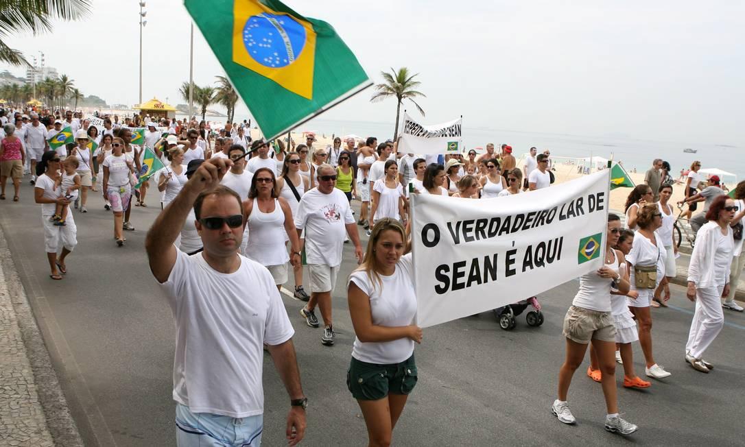 Caso de Sean rendeu até protestos em Copacabana Foto: Simone Marinho / Simone Marinho