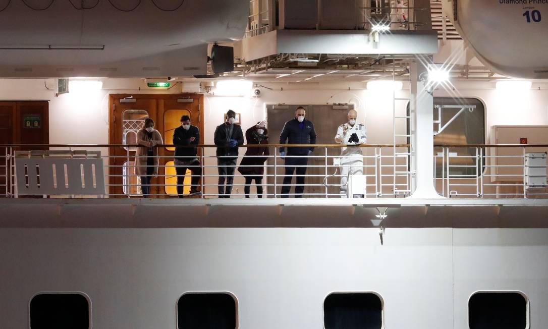 Ainda há passageiros no Diamond Princess Foto: Kim Kyung-Hoon/Reuters/21.02.2020 / REUTERS