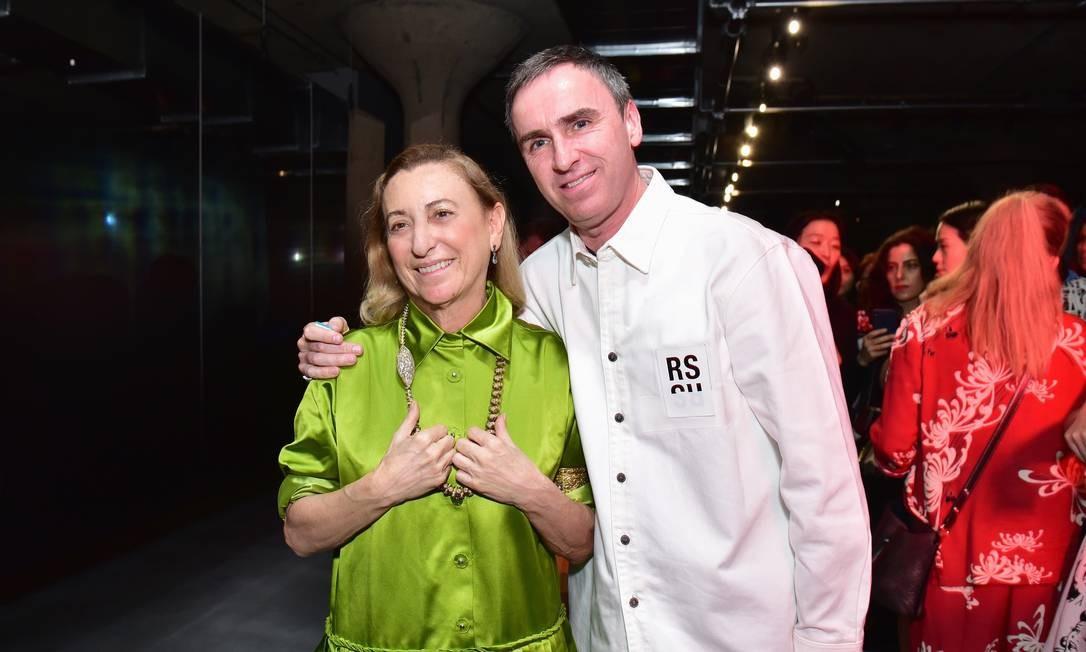 Miuccia Prada e Raf Simons Foto: SEAN ZANNI/AFP