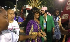 Evelyn Bastos, rainha de bateria da Mangueira, surpreendeu ao revelar que não irá sambar durante o desfile Foto: Ricardo Rigel