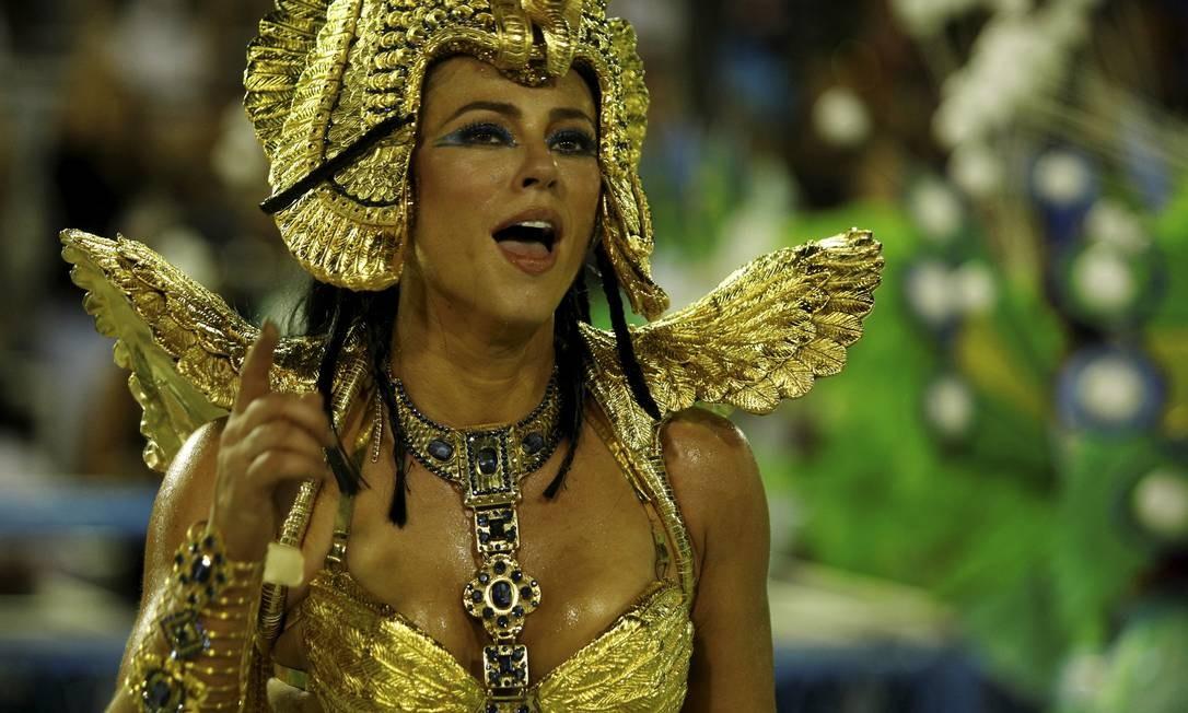 Paolla Oliveira brilhou como como Cleópatra na Grande Rio Foto: Brenno Carvalho / Agência O Globo