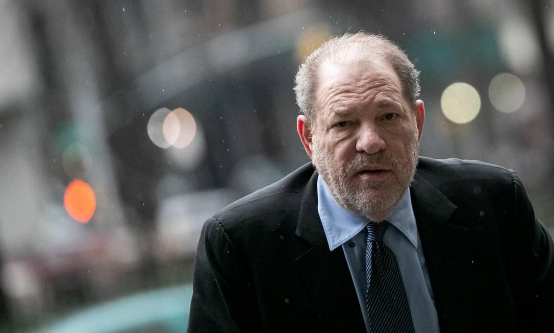 O produtor Harvey Weinstein, em Nova York, em fevereiro de 2020 Foto: Jeenah Moon / Reuters